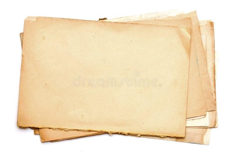 Vecchio documento. Serie fotografia stock libera da diritti