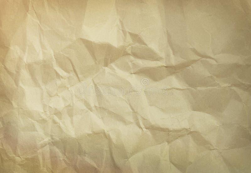 Vecchio documento sgualcito immagine stock