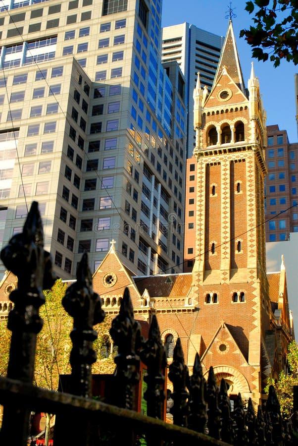 Vecchio e nuovo-Melbourne fotografia stock libera da diritti