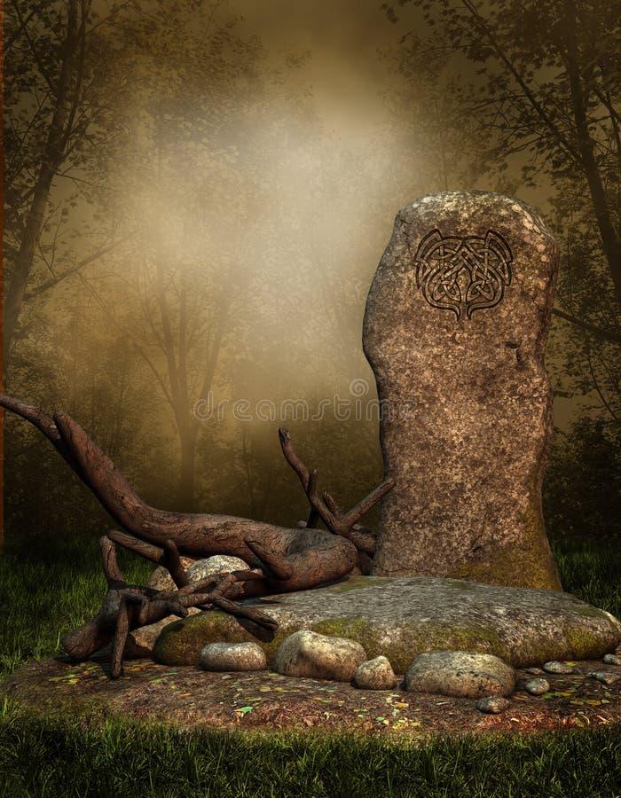 Vecchio elven la roccia royalty illustrazione gratis