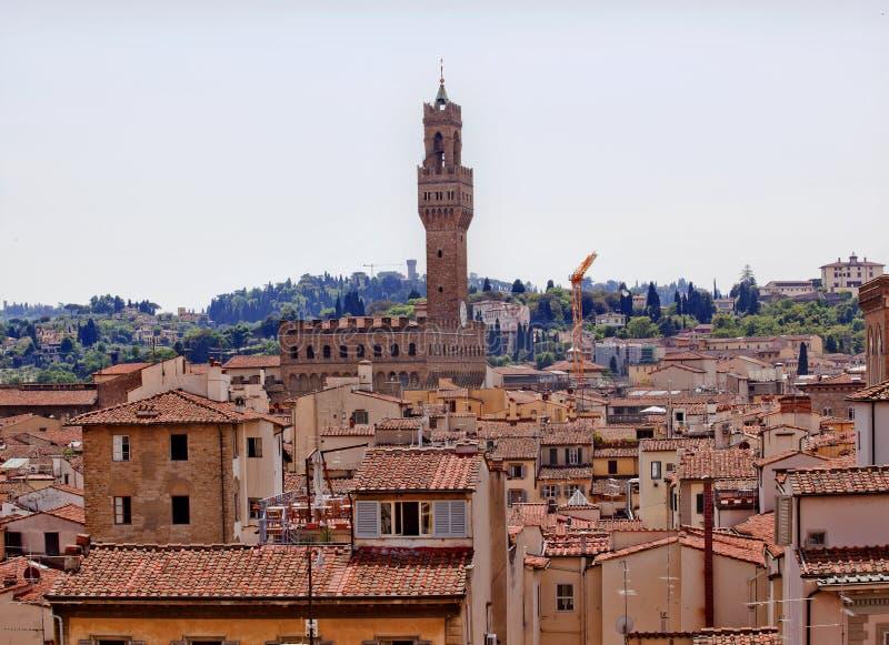 vecchio för torn för rooftops för arnolfoflorence palazzo royaltyfri bild