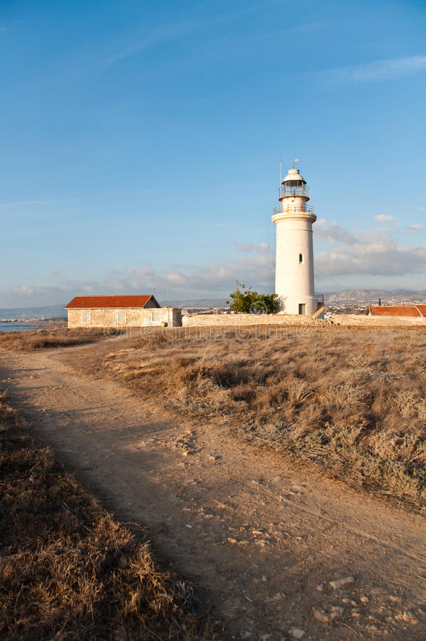 Vecchio faro di Paphos fotografia stock libera da diritti