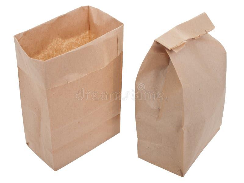 Vecchio-fashied sacchetto del pranzo immagine stock libera da diritti