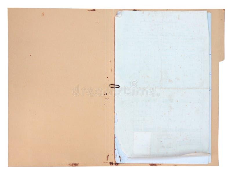 Vecchio fiore del documento fotografie stock libere da diritti