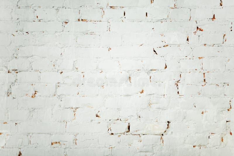 Vecchio fondo bianco del muro di mattoni fotografie stock