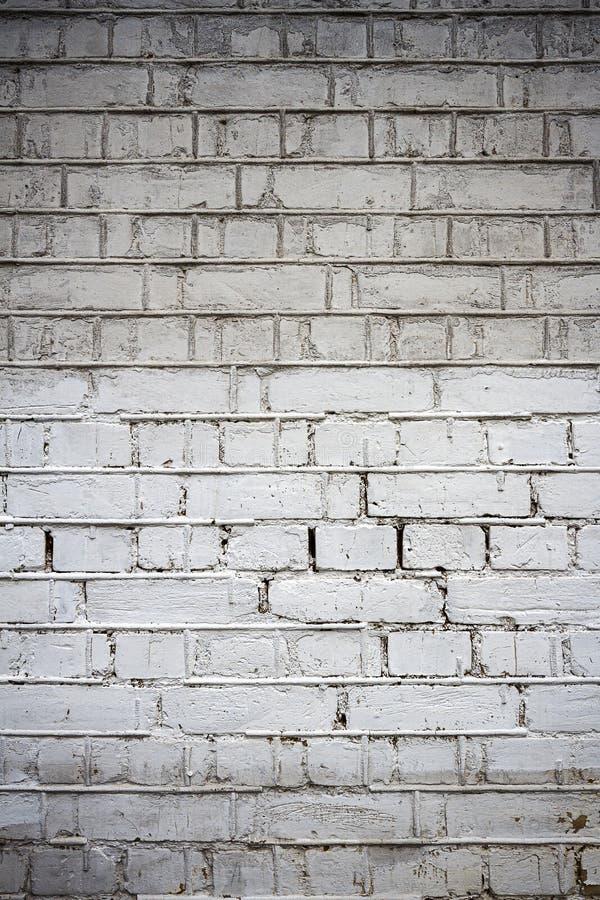 Vecchio fondo bianco di struttura del muro di mattoni fotografia stock libera da diritti