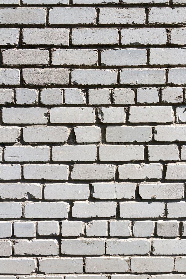Vecchio fondo bianco di struttura del muro di mattoni immagini stock libere da diritti
