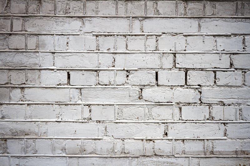Vecchio fondo bianco di struttura del muro di mattoni immagine stock libera da diritti