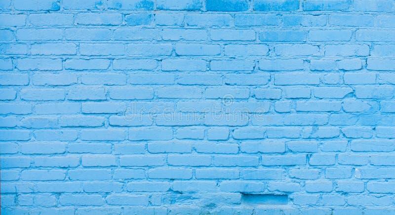 Vecchio fondo blu del muro di mattoni fotografia stock libera da diritti