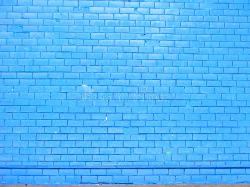 Vecchio fondo blu del muro di mattoni, fine su immagini stock