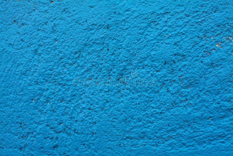 Vecchio fondo blu e cian della parete di strutture Fondo perfetto con spazio immagini stock libere da diritti