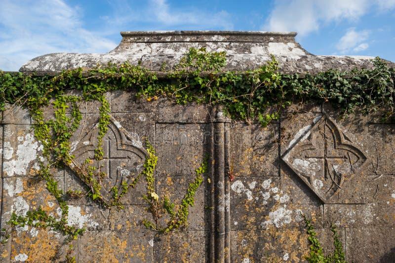 Vecchio fondo celtico invaso della tomba fotografia stock