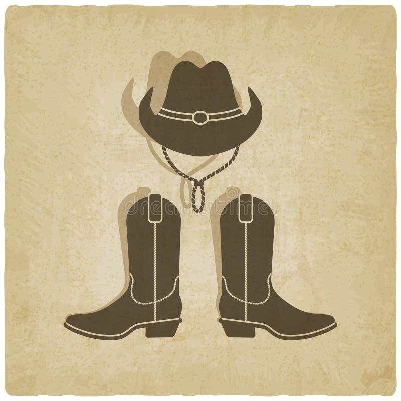 Vecchio fondo del cowboy illustrazione vettoriale