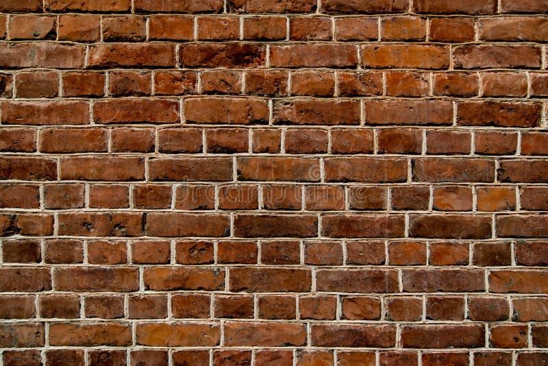Vecchio fondo del sottotetto di marrone del muro di mattoni fotografia stock libera da diritti