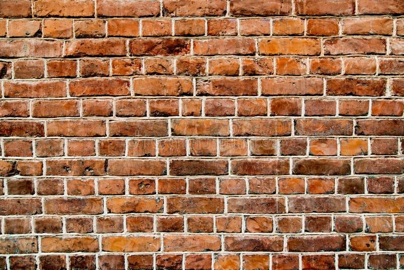 Vecchio fondo del sottotetto di marrone del muro di mattoni fotografia stock