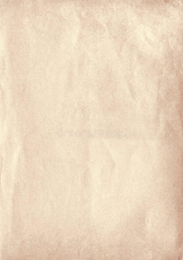Vecchio fondo della carta di struttura di lerciume beige verticale illustrazione vettoriale