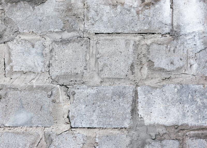 Vecchio fondo della parete del blocco in calcestruzzo - struttura di lerciume fotografia stock libera da diritti