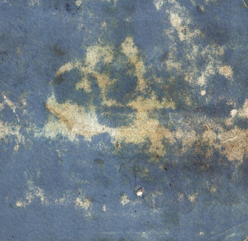 Vecchio fondo di carta d'annata blu immagini stock