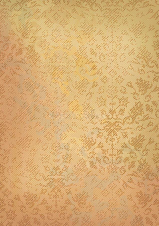 Vecchio fondo di carta di lerciume d'annata con il modello illustrazione vettoriale