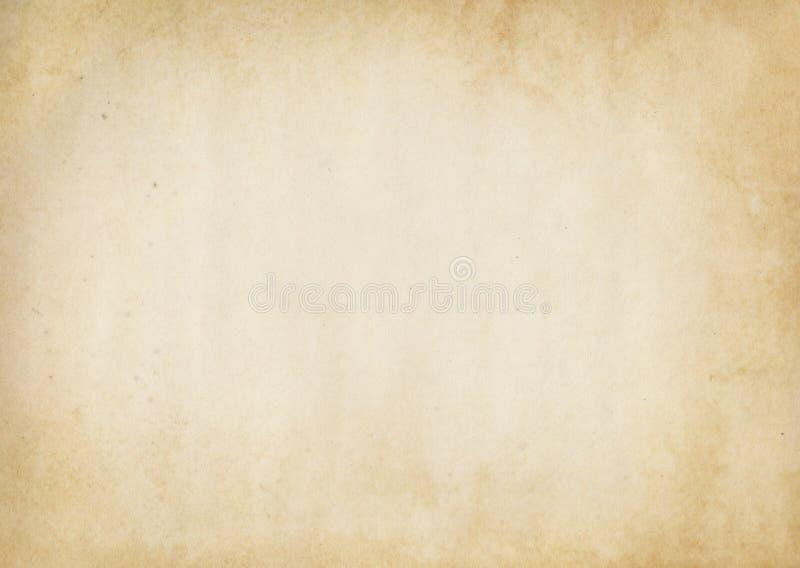 Vecchio fondo di carta ingiallito fotografia stock