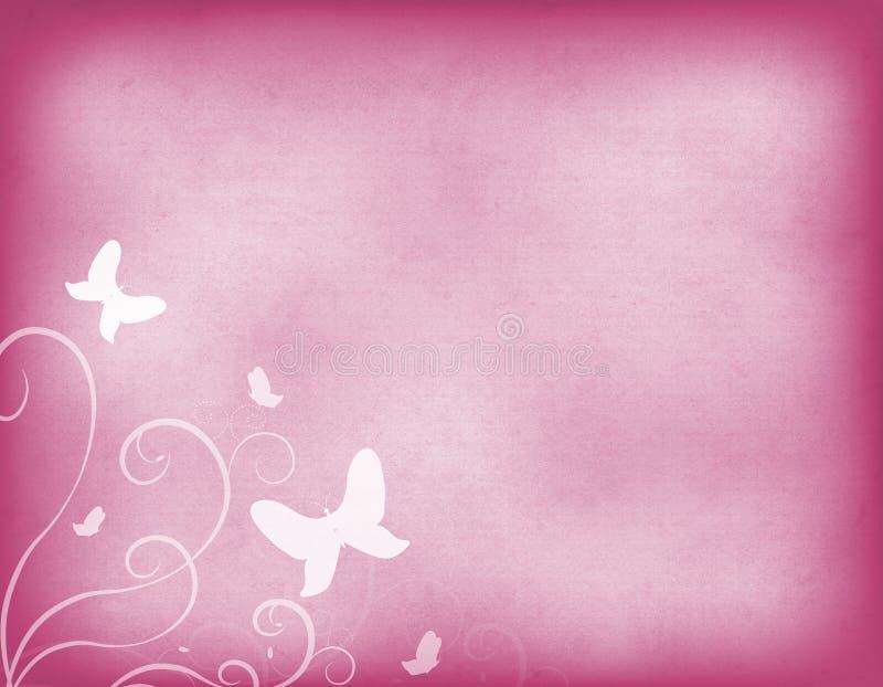 Vecchio fondo di carta di rosa d'annata con la decorazione royalty illustrazione gratis