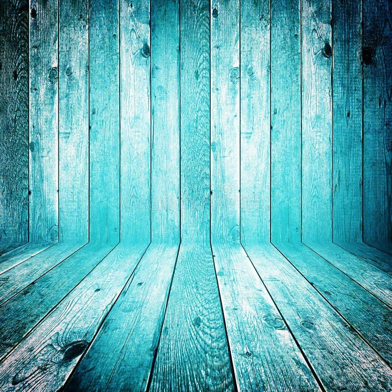 Vecchio fondo di legno blu grungy immagine stock libera da diritti