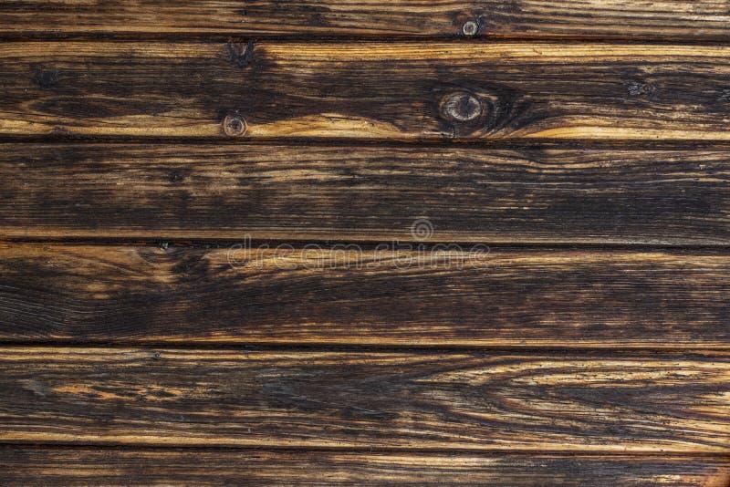 Vecchio fondo di legno scuro e marrone chiaro di struttura fotografia stock