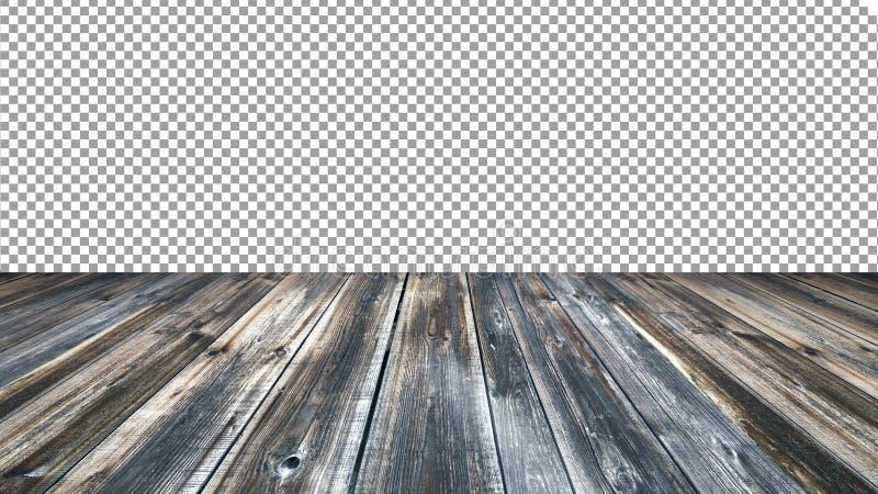 Vecchio fondo di legno vuoto del piano d'appoggio Per l'esposizione del prodotto del montaggio immagine stock