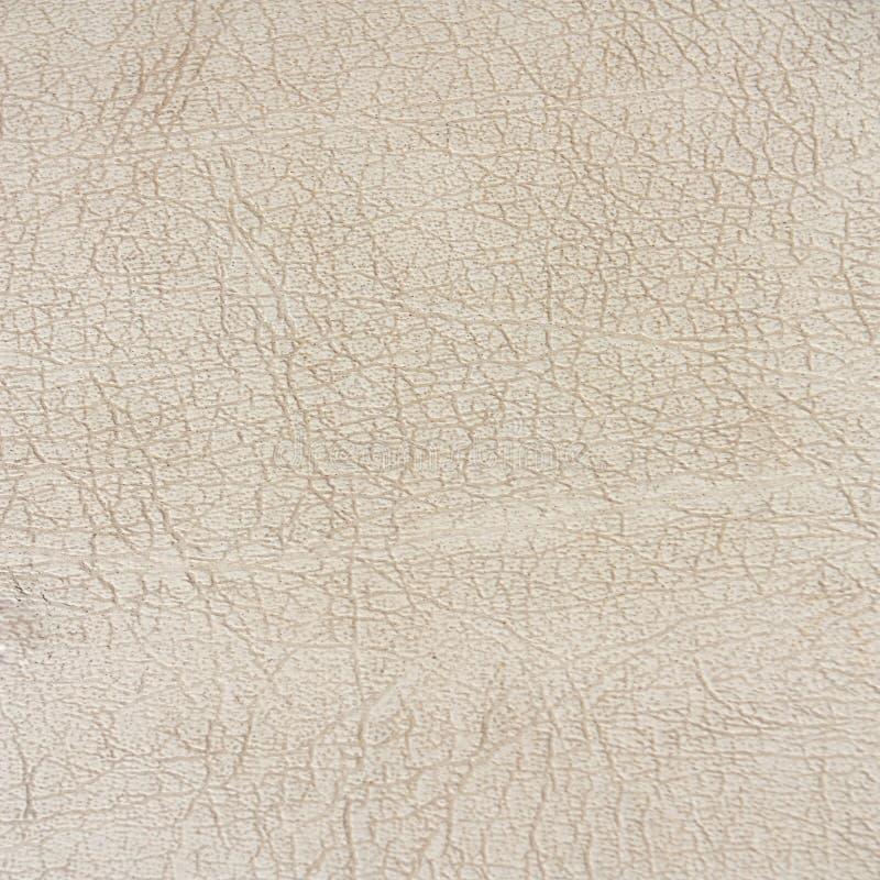 Vecchio fondo di struttura del cuoio bianco immagine stock