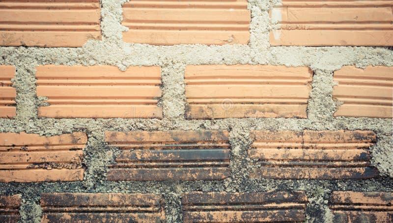 Vecchio fondo marrone di struttura del mattone del walll di lerciume immagine stock libera da diritti