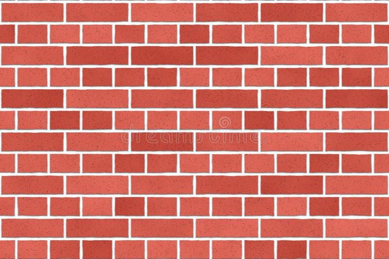 Vecchio fondo rosso senza cuciture del muro di mattoni royalty illustrazione gratis