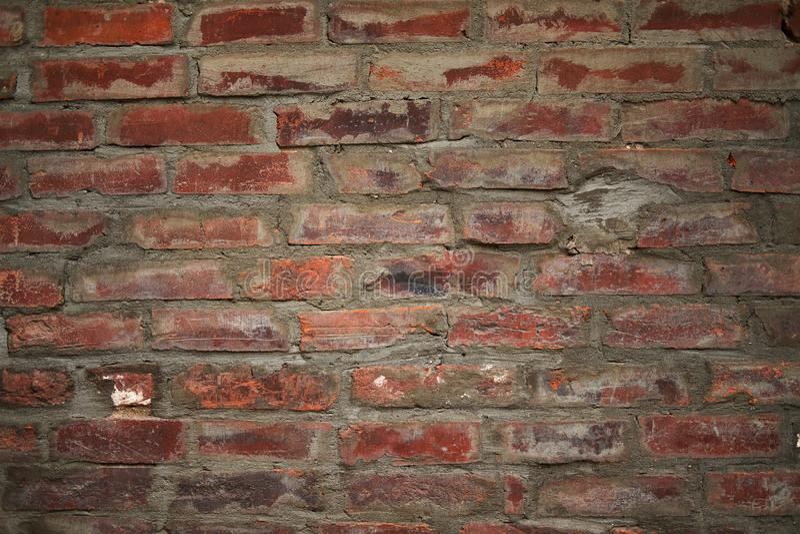 Vecchio fondo sporco del muro di mattoni fotografie stock