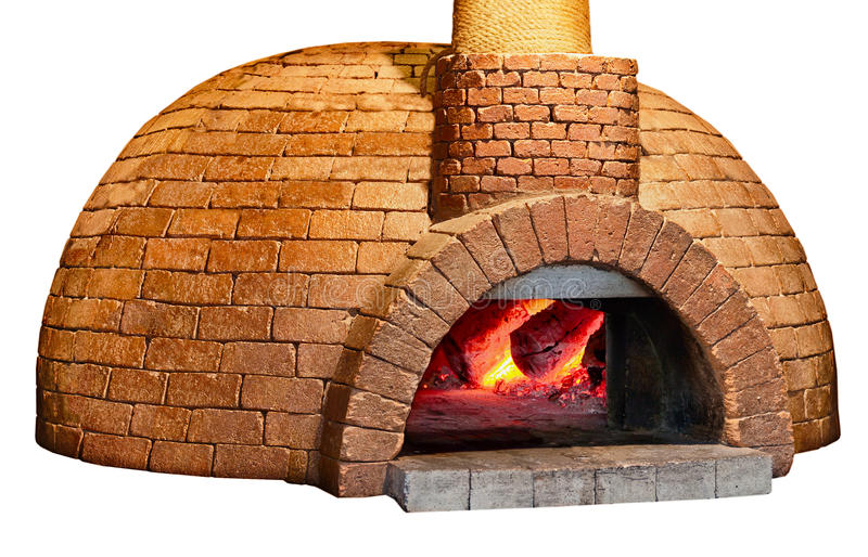 Vecchio forno del pane isolato su priorità bassa bianca fotografie stock