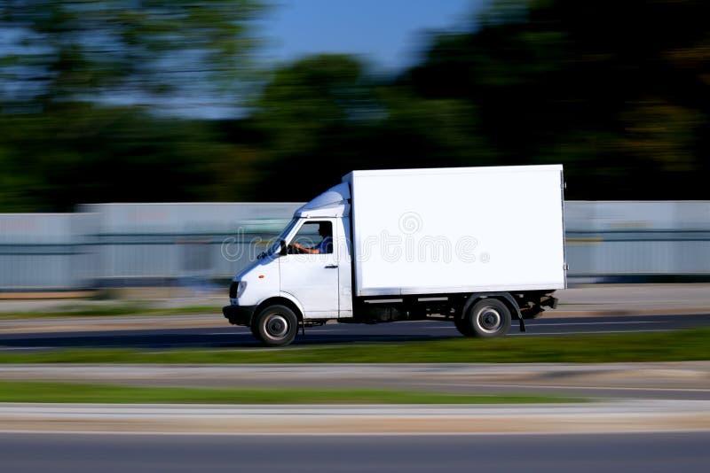 Vecchio furgone bianco infallibile fotografia stock libera da diritti