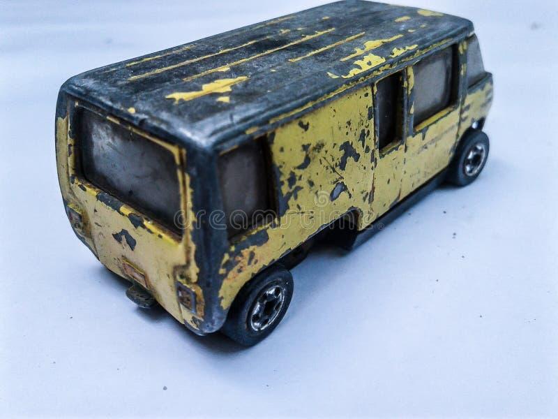 Vecchio furgone del giocattolo fotografia stock libera da diritti