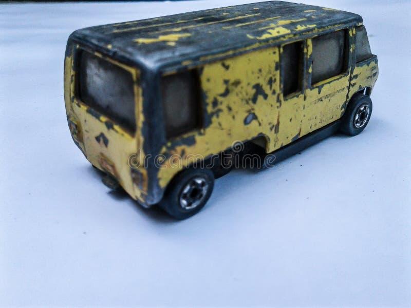 Vecchio furgone del giocattolo immagini stock libere da diritti