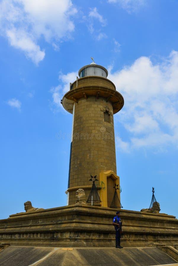 Vecchio Galle Buck Lighthouse a Colombo, Sri Lanka fotografia stock