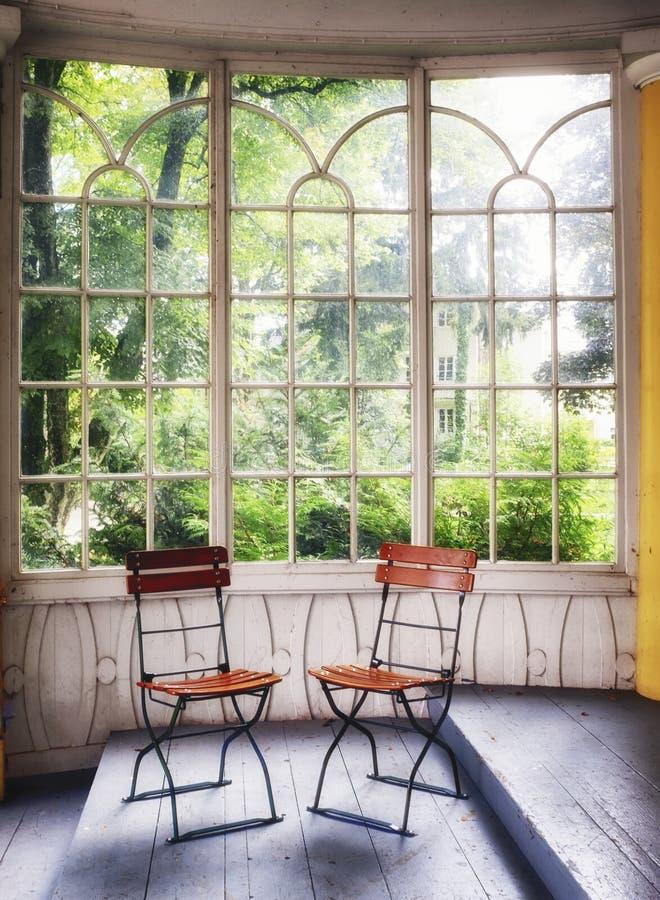 Vecchio giardino di inverno fotografia stock libera da diritti