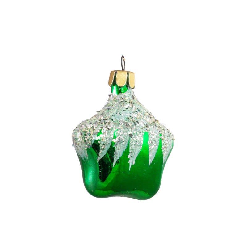 Vecchio giocattolo di vetro misero sovietico dell'albero di Natale immagini stock