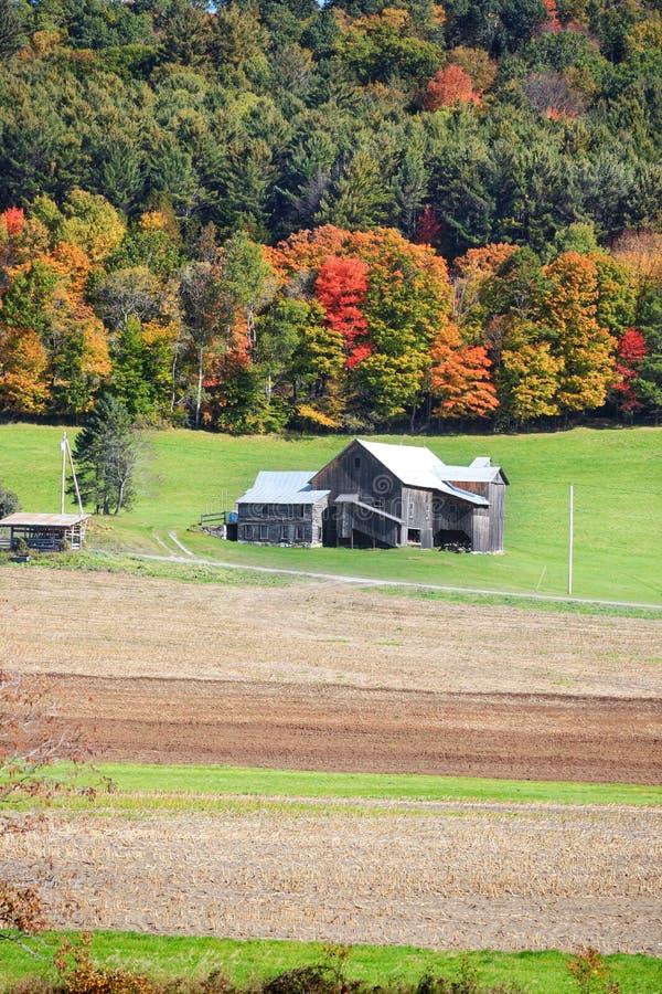 Vecchio granaio nel Vermont fotografia stock libera da diritti