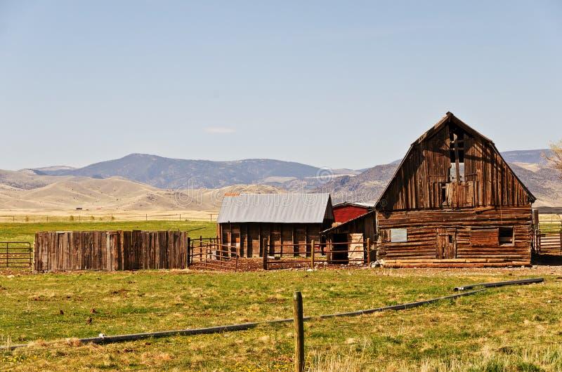 Vecchio granaio su un ranch fotografia stock libera da diritti