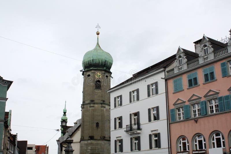 Vecchio hause in Bregenz L'Austria 2018 fotografie stock