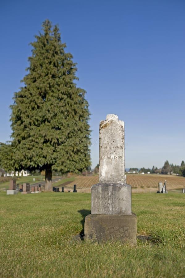 Vecchio headstone 1800's fotografia stock libera da diritti