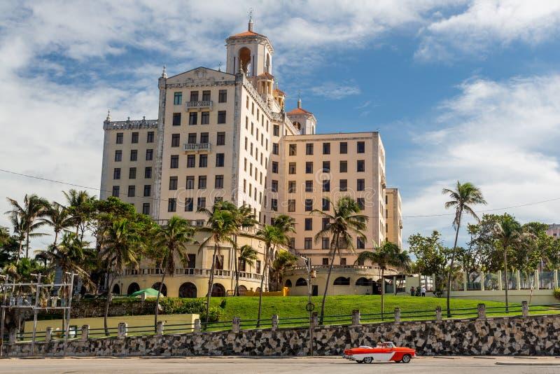 Vecchio hotel, Avana, Cuba immagine stock libera da diritti