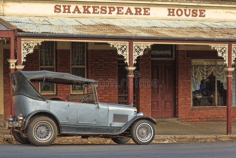 Vecchio hotel in Maldon, Vic l'australia immagine stock