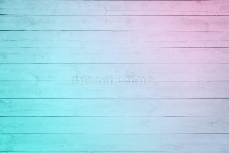 Vecchio impallidisca il legno blu rosa della plancia del ombre immagini stock