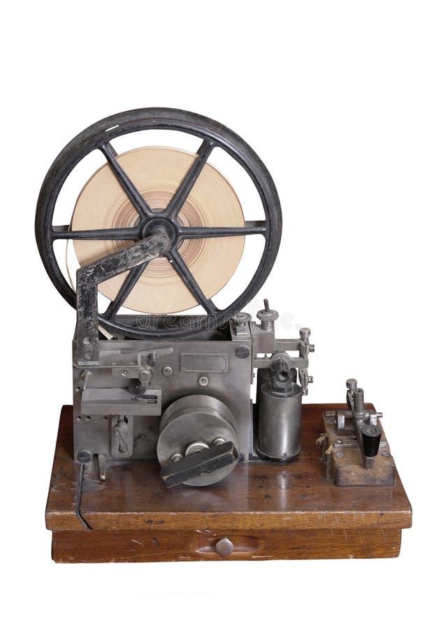 Vecchio insieme del telegrafo. fotografia stock