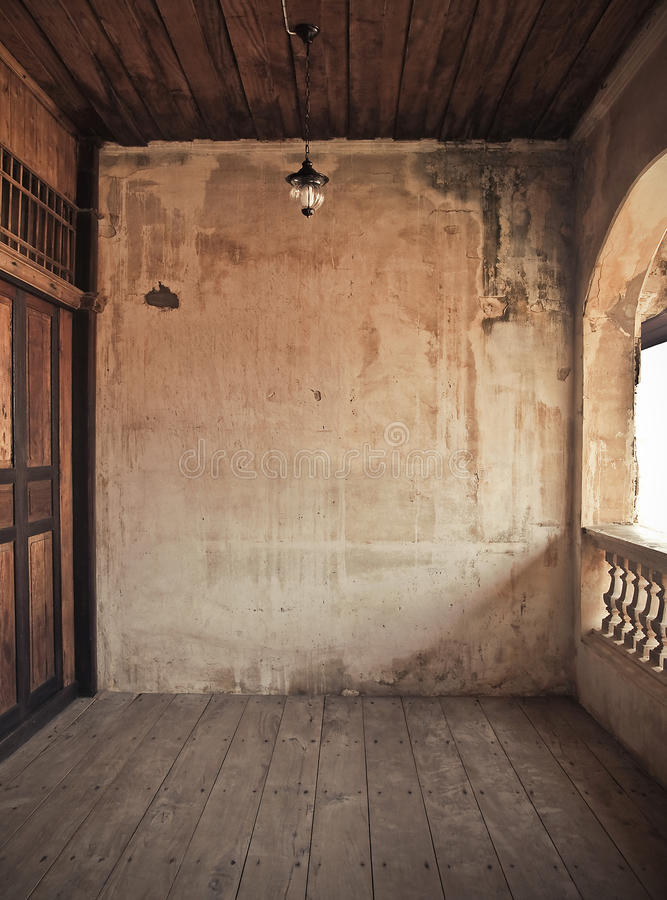 Vecchio interiore immagine stock