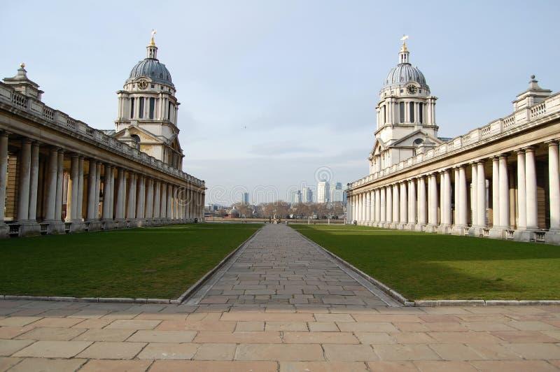 Vecchio istituto universitario navale reale, Greenwich, Londra immagini stock libere da diritti