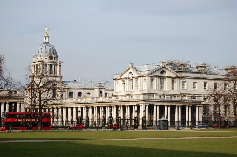 Vecchio istituto universitario navale reale, Greenwich, Londra immagine stock libera da diritti